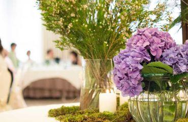 Decoración floral u ornamental de mesas
